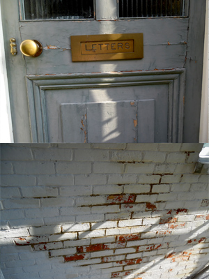 Before, Victorian door and masonry in need of TLC